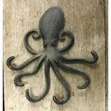 Heavy Cast Iron Octopus Towel Hanger Coat Hooks Hat Hook, Key Rack Nautical