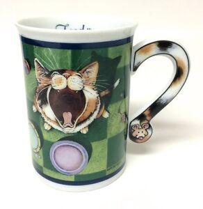 comical cats feed me porcelain coffee mug cup gary patterson art danbury mint ebay. Black Bedroom Furniture Sets. Home Design Ideas