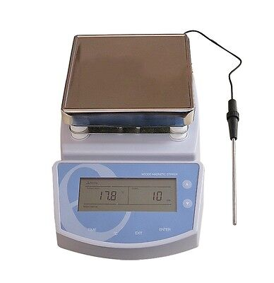 Digital Hot Plate Magnetic Stirrer Electric Heating Mixer Max Temperature 300oc