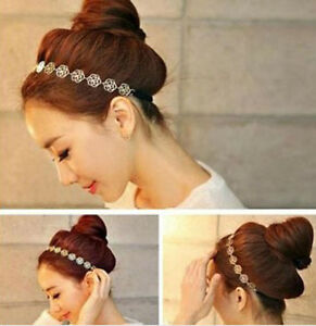 New-Fashion-Women-Accessories-Hollow-Rose-Flower-Elastic-Hair-Band-Headband