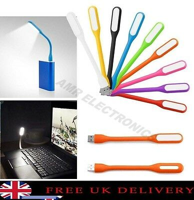 Flexible Cable USB LED Light Lamp For Computer Reading  Power Bank Laptop