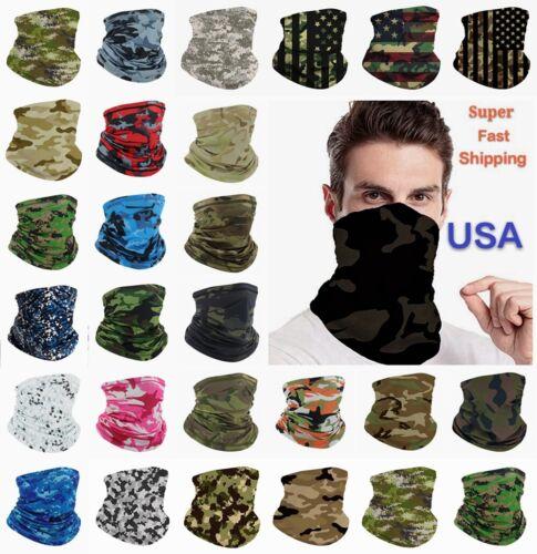 Face Mask Bandana Camouflage Camo Covering Snood Tactical Neck Gaiter Reusable