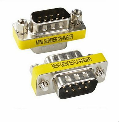 9 Pin RS-232 DB9 Male to Male Serial Cable Gender Changer Coupler Adapter (Rs 232 Gender Changer)