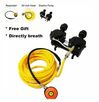 Direct Breath 12v Oil-less Pump Hookah Dive Compressor 3rd Lung Whoseregulator