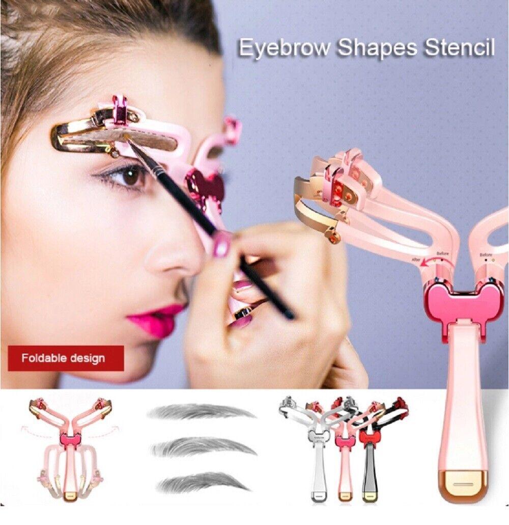 Adjustable Eyebrow Shapes Stencil Eyebrow Mold Makeup Tools Cosmetic Artifact US Eyebrow Liner & Definition