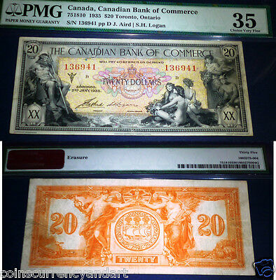 1935   20 Canadian Bank Of Commerce  Pmg 35