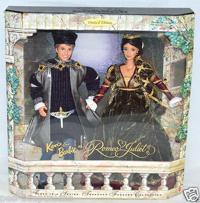 ROMEO & JULIET Barbie & Ken dolls 1st in series Limited ED 1997 Collection NIB