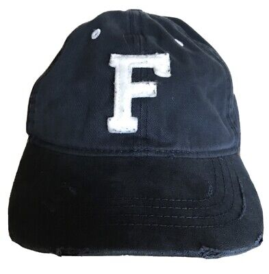 "Abercrombie & Fitch Navy Blue A&F ""F"" Hat Baseball Cap Mens Adjustable One Size"