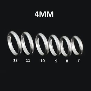 NEW Solid REAL Sterling Silver Plain Men's Wedding Ring Band Size 7 8 9 10 11 12