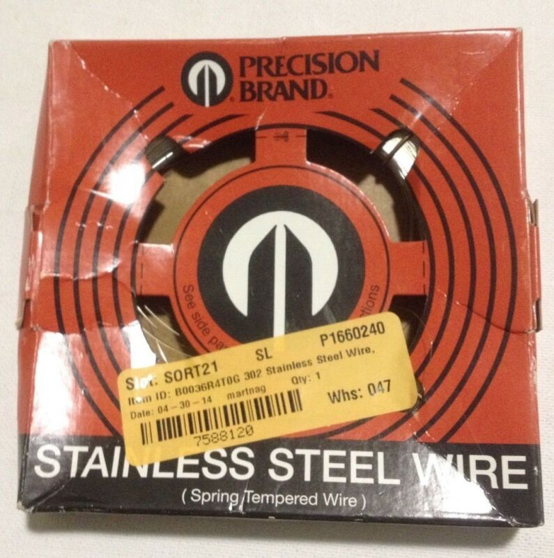 302 Stainless Steel Wire, Unpolished (Mill) Finish, Full Hard Temper, Precision