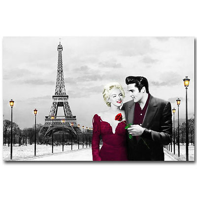 Elvis Presley Marilyn Monroe Canvas print quality home decor