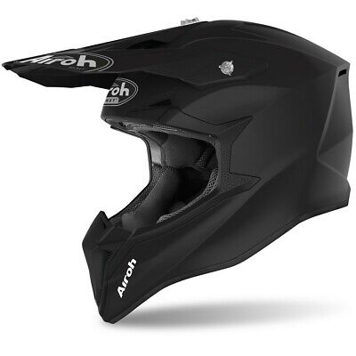 CASCO CROSS AIROH WRAAP NERO OPACO OPACO 2020 TAGL