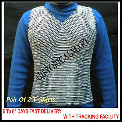Pair of 2 Halloween Costumes Halloween Costume Ideas, Sleeveless Chainmail Shirt
