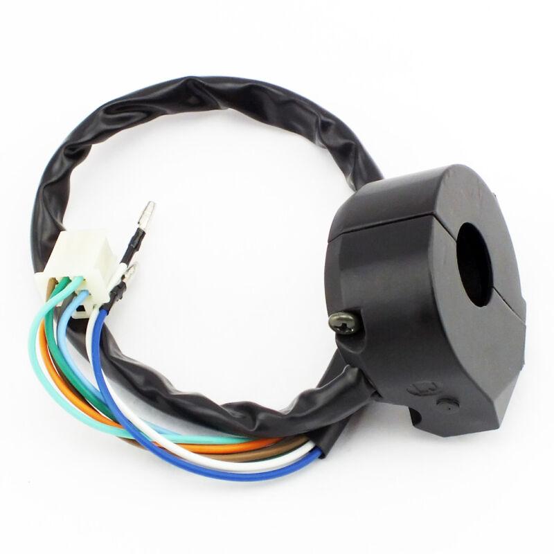 "Control Turn Signal Horn Light Low High Beam Left Switch Dirt Bike 7/8"" DC 12V"