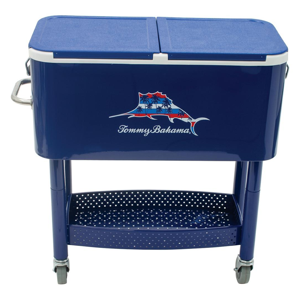 Tommy Bahama Rolling Party Cooler 100 qt Stainless Steel Rol