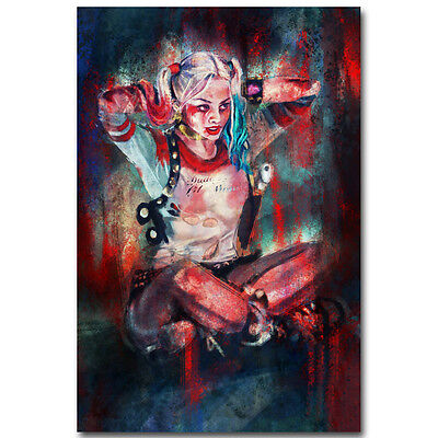 Suicide Squad DC Superheroes Movie Silk Poster 12x18 inch Harley Quinn 022 - Superhero Poster