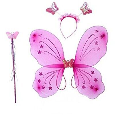 Kinder Kostüm Schmetterling Engel Elfe Fee Flügel Feenstab - Schmetterling Flügel Kostüme Kinder