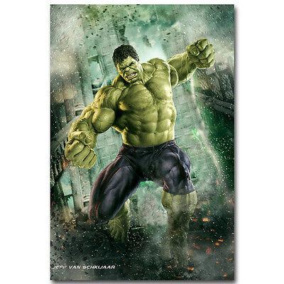 Superhero Posters (Hulk - The Avengers Marvel Superheroes Movie Silk Poster 12x18 24x36 inch)