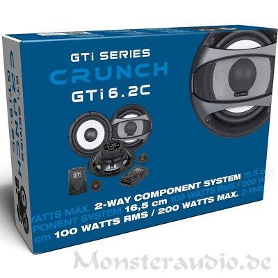 Crunch GTI-6.2C 16,5cm 2-Wege Lautsprecher Set Auto Boxen 100 / 200 Watt RMS/MAX Max 2-wege Lautsprecher