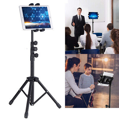 """3 Sections Retractable Tablet Tripod Floor Stand For 12.9"""" Ipad Iphone Live Show"""