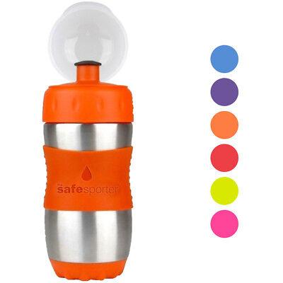 Water Bottles For Kids (Kid Basix Safe Sporter™ 12oz Stainless Steel Water Bottle for Kids School)