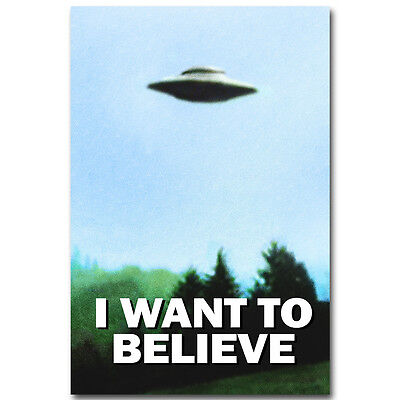 The X Files   I Want To Believe Tv Art Silk Poster 12X18 24X36 Inch