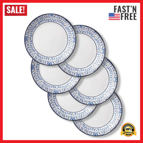Lunch Plates 6 Pieces Chip Resistant Portofino Dishwasher and Microwave Safe
