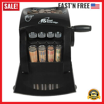 Manual Coin Sorter Change Money Cash Counting Counter Machine Anti-jam Roll Us