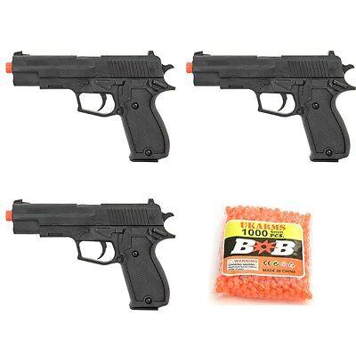 3 X Ukarms M1911 Spring Airsoft Hand Gun Pistol W  1000 6Mm Bb Bbs