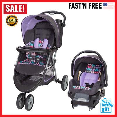 Car Seat & Stroller Combo Set Baby Baby Baby Newborn Travel System Purple NEW