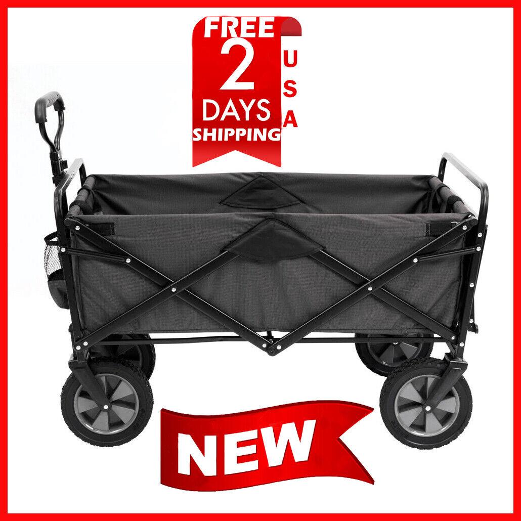 MAC Sports Wagon Picnic Tray Table Bonus Folding Beach Cart