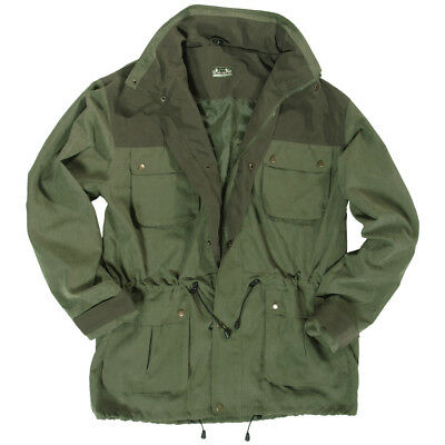 Non-Rustle Hunting Fishing Mens Long Jacket Hooded Hunters Coat Olive Drab S-XXL