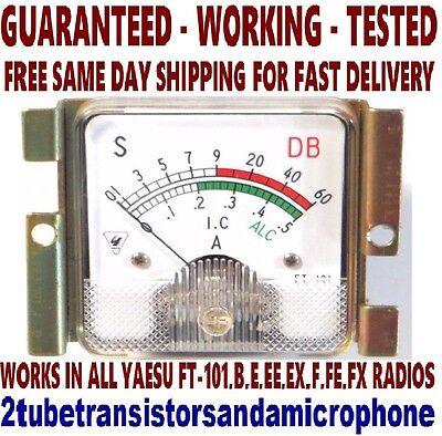 TESTED WORKING YAESU RF SIGNAL S METER FT 101 E EE EX F FE SERIES TUBE HAM RADIO for sale  New Berlin
