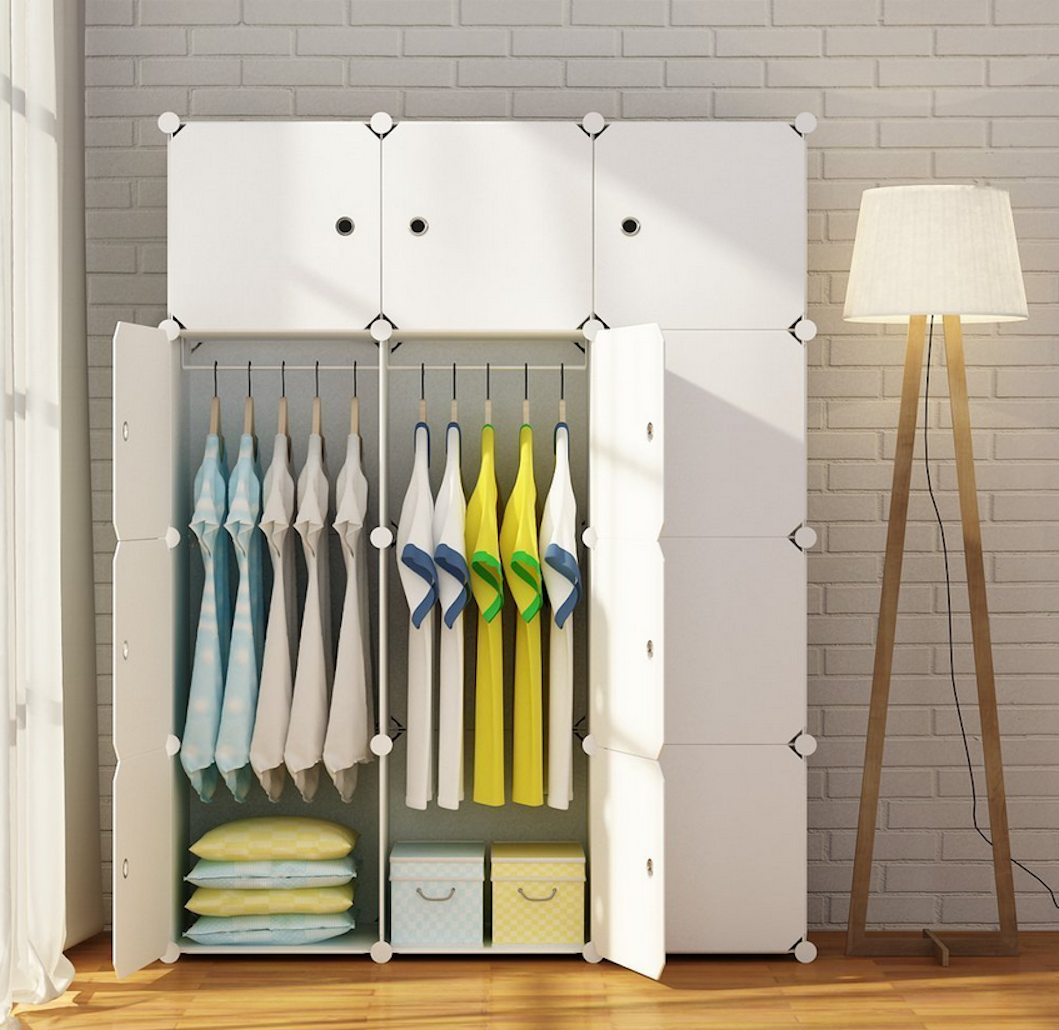 Custom Closet Organizer Modular Storage Cube Cabinet System
