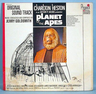 1968 Planet of the Apes Original Movie Soundtrack LP Record Album Project 3