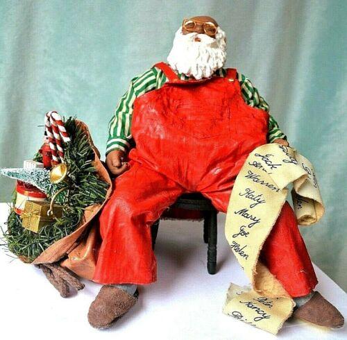 African American Santa- Clothique - Santa Snoozing