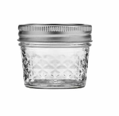 Mason Jelly Jars (Mason Ball Jelly Jars-4 oz. each - Quilted Crystal Style - Set of)