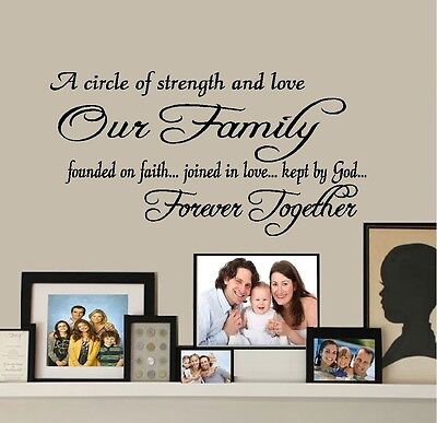 Our Family Forever - Words & Phrases, Best Priced Decals, Wall
