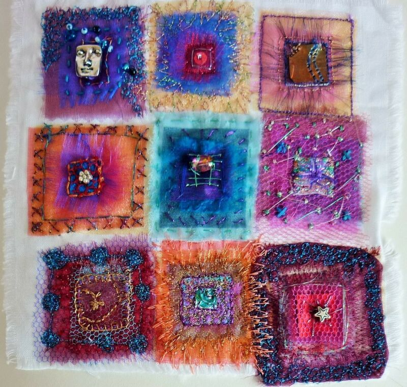 Great way to use up scraps and play with texture and colour :)