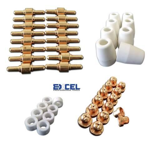 46x Plasma Cutter Consumables LG-40 CUT40 PT-31 CUT50 Electrode Tip Torch Nozzle