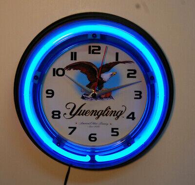 Yuengling beer logo neon wall clock