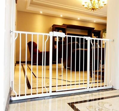Extra Wide Baby Gate for Stairs Walk Through Auto Close Child Pets Safety Gate