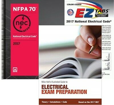 National Electrical Code (Spiralboud), EZ Tabs (Color) & Mike Holt's Exam, 2017