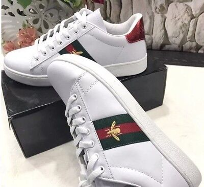 New sneakers shoes Gucci Look Ace bee embroidery women's size UK 4, Eur 37