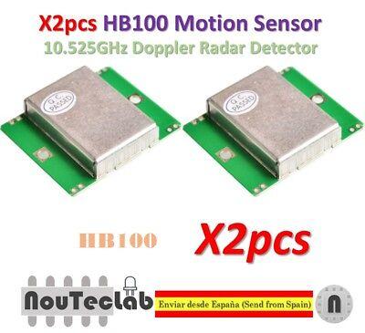 2pcs Hb100 Microwave Motion Sensor 10.525ghz Doppler Radar Detector