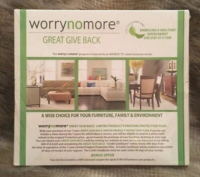 WorryNoMore Furniture Cleaning Protection Kit Microfiber Leather Wood Polish New
