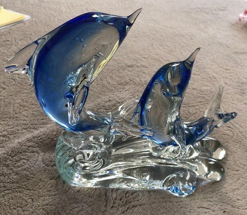 Chrystal Dolphin Figurine