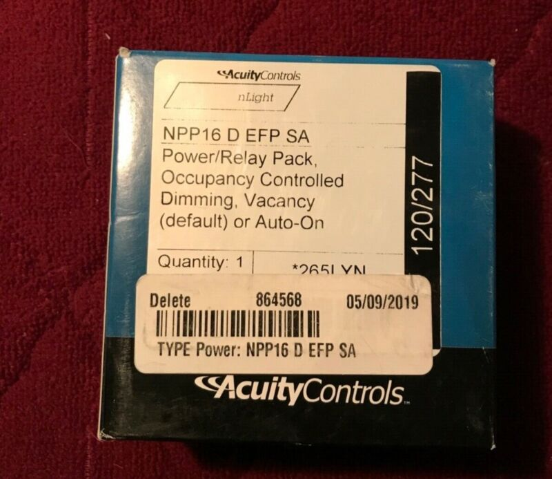 *New SEALED BOX* nLIGHT Acuity Controls NPP16 D EFP SA - Dimming 265LYN