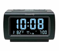 DreamSky Decent Alarm Clock Radio with FM Radio, USB Port for medium, Black