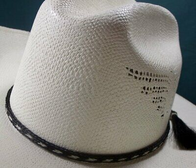 e7fc1523 Horsehair HAT BAND, double TASSELS, black/white, DISTINCTIVE, Western hat  band